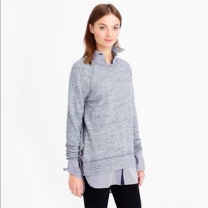 J. Crew Side Zip Grey Tunic Sweatshirt—S